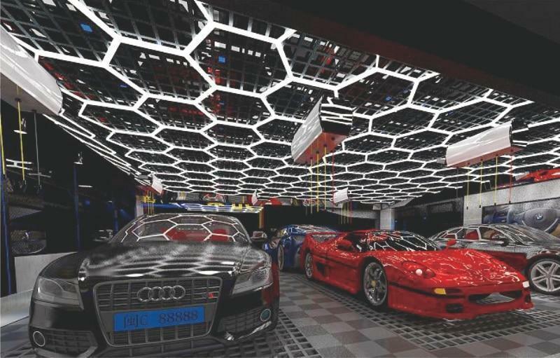Ultimate Hexagon LED Garage Lighting System