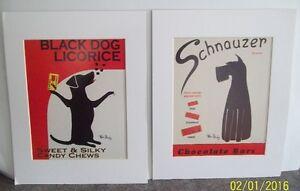 Two Ken Bailey Dog Art Prints