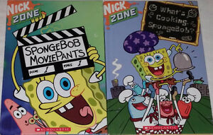 Sponge Bob Movie Pants & What's Cooking Hard Cover Books