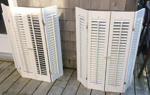 Colonial Faux Wood Interior Shutters - colour: White