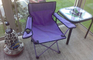 Child sized Purple Camp Chair