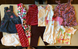 Selling large lot of NAME BRAND girl clothes 12-36 months