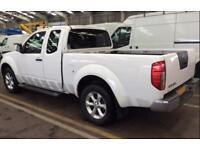 2014 WHITE NISSAN NAVARA 2.5 DCI 4WD ACENTA KING CAB PICKUP CAR FINANCE FR 37 PW