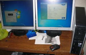 3Ghz E8400 Core 2 Duo 4GB RAM dual LCD monitor computer