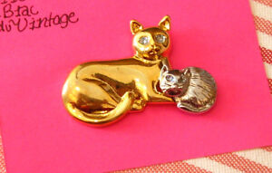 Broche chat et chaton #083