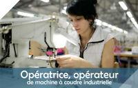 Formation Opératrice-opérateur de machine à coudre industrielle