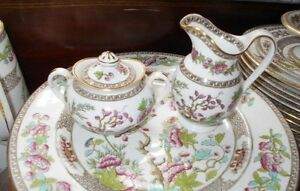 Copeland Spode Indian Tree Green and Pink Dinnerware Set Kingston Kingston Area image 6