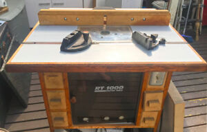 RT1000 router table with extension and Ryobi router