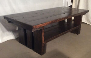 Handcrafted coffee table ( reclaimed wood)