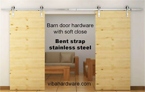Double door soft close barn door hardware - Starting at $300