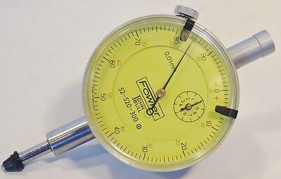 Fowler Dial Indicator 10mm Range .01mm Graduations Model 52-520-300