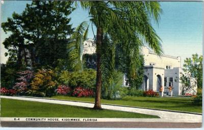 Kissimmee  Florida  Fl    Community House  1948   Linen    Postcard