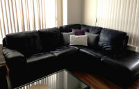 ***Genuine Australian Leather Sectional sofa couch*** with chair