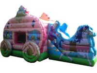 PRINCESS CARRIAGE BOUNCY CASTLE for hire / Popcorn & Candy Floss + more / Essex & London