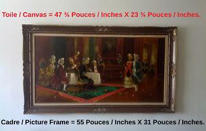"""Tableau style Renaissance huile/toile, signée """" WOLF """""""