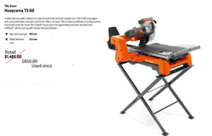 Husqvarna TS 60 Tile Saw  $850.00   (Used once)