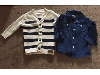 Smart Boys Cardigan and Shirt - 3-6 months