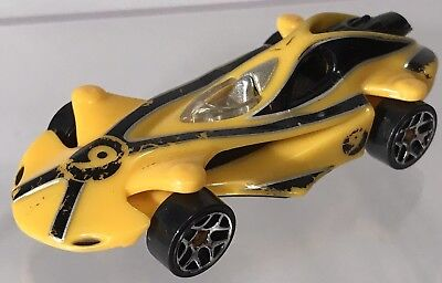 Hot Wheels Speed Racer X Movie Race Car Yellow 1:64 2008 Wear Diecast Rare for sale  Chattanooga