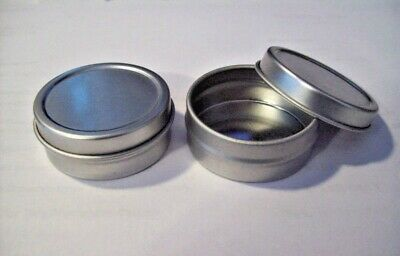 12 Small Silver Metal Gift Tin Tins Favor Box holds 1/2 oz & is 1.5