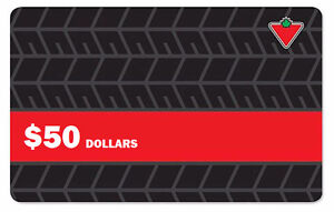 Canadian Tire gift card, money, credit note (up to 85%)