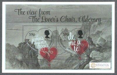 Alderney-Valentines Day Feb 14th-2018 mnh min sheet(PRE-ORDER)