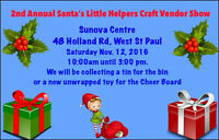 2nd annual santas little helpers craft and vendor show