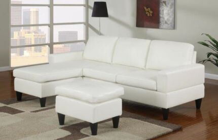 BRAND NEW 3 SEATER LEATHER-LOOK SOFA WITH FREE OTTOMAN Bibra Lake Cockburn Area Preview