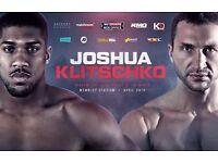 Anthony Joshua v Vladamir Klitschko Tickets X2