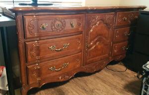 Stanley Furniture Set: Dresser, Mirror, 2 Side Tables