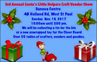 3rd Annual Santa's Little Helpers Craft and Vendor Show