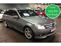 £239.06 PER MONTH MERCEDES C350 3.0CDI BLUE EFFICIENCY AUTO SPORT DIESEL MANUAL