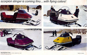 Scorpion Snowmobiles Wanted 1972 to 1975