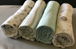 Aden Anais Classic Swaddle Blanket Cotton Muslin - 4 Pack
