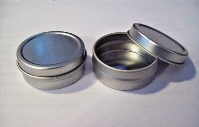 24 Small Silver Metal Gift Tin Tins Favor Box holds 1/2 oz & is 1.5