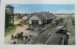 Caledonia train station limited edition print by  L.arry Fisher