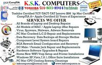 Computer Service PC Mac LCD Service Virus Clean Data Recovery A+