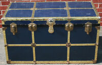 Vintage Dark Blue Trunk / Chest