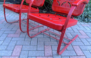 mid century chairs, outdoor furniture, vintage metal chairs, London Ontario image 8