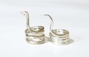 Pair of Silver Snakes for Kaal Sarp Dosha Pooja