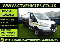 2015 15 Ford Transit 2.2 TDCi 350 1-Way Tipper RWD FORD WARRANTY Tidy van