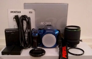 Pentax K-30 DSLR Camera with 18-135mm wr lens (blue)