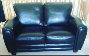 Leather love seat, barely used!