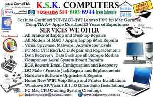 PC Mac Computer Repairs LCD Repairs Virus Clean Data Recovery