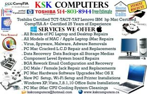 West Island  PC Mac Services LCD Repair VirusClean Data Recovery