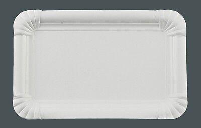 250 Pappteller eckig, 13 x 20 cm Einweg Kuchenteller