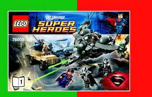 Set Lego 76003 Superman: Battle of Smallville BRIQUES TOYS JOUET