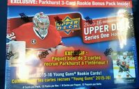 2015-16 Upper Deck Series 1 Box With Parkhurst Exclusive Pack