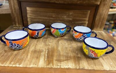 Mother's Day Cups (Talavera Cup Large Mexican Pottery Cappuccino or Tea Ceramic Mother's Day)
