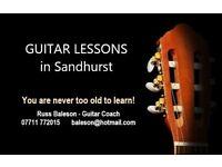 Guitar Lessons in Sandhurst
