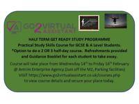 HALF TERM GET READY STUDY PROGRAMME FOR GCSE & A LEVEL STUDENTS
